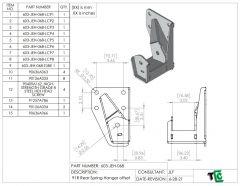 DROP/Offset Ford Ranger Rear Spring Hangers for Long Travel Leafsprings - PTF