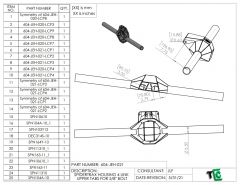 """Upper 4 Link Mounts for 5/8"""" bolts on Spidertrax Housing"""