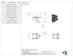 """Universal Upper Link Mount - 15 Deg. 9/16"""" bolt on 2.625"""" - PTF"""