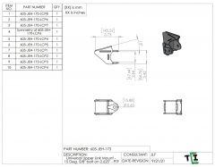 """Universal Upper Link Mount - 15 Deg. 5/8"""" bolt on 2.625"""" - PTF"""