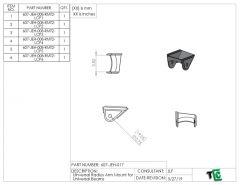 7 DEG Universal Radius Arm Mount for Universal Beams - PTF
