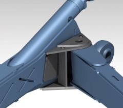 Center Mount Radius Arm Beam Brackets - 10 Deg - PTF
