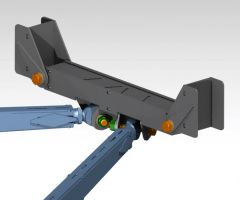 "36"" Width Universal Radius ARM Center Chassis Mount - PTF"
