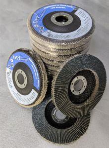 """DIY Abrasives 10 PACK of Flapper Discs - 4.5"""" 60 Grit Type29"""