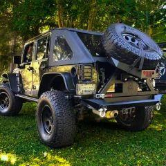 Jeep JK JKU Rear Razor Bumper With RazorBack Tire Carrier DXF build files